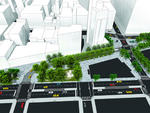 Site plan of the new Astor Place and Cooper Square