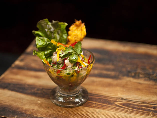 Lionfish ceviche at Norman's Cay