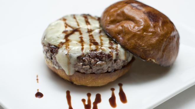 Truffle burger at Umami Burger