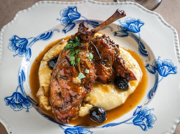 "<p>Braised rabbit at <a href=""http://www.timeout.com/newyork/restaurants/al-di-la"">al di là</a></p>"