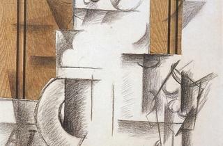 (Georges Braque, 'Compotier et verre', (Premier papier collé), 1912 / © The Leonard A. Lauder Cubist Trust © Adagp, Paris 2013)