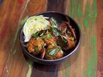 Crunchy coconut rice at Khe-Yo