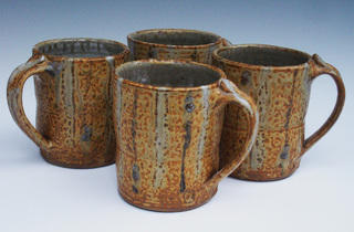 Tom Homann stoneware mugs, $27 each, at Crafts on Columbus