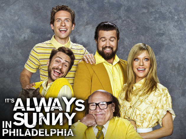 IT'S ALWAYS SUNNY IN PHILADELPHIA: Clockwise From Top: Glenn Howerton, Rob McElhenney, Kaitlin Olson, Danny Devito and Charlie Day