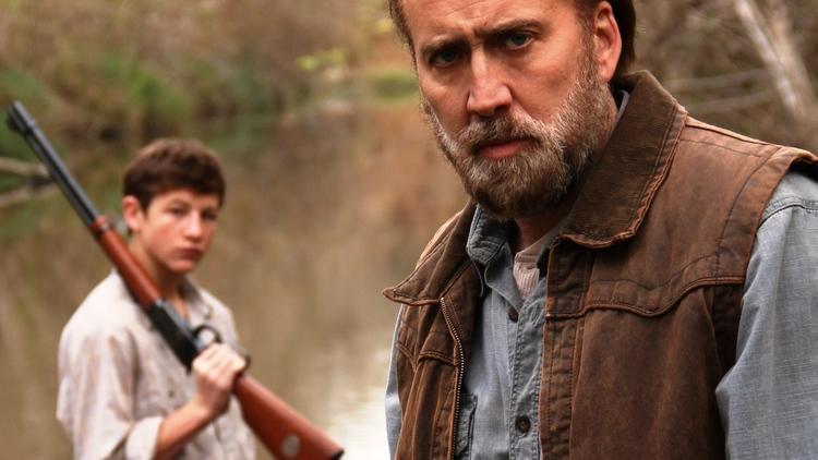 Nicolas Cage, right, in Joe