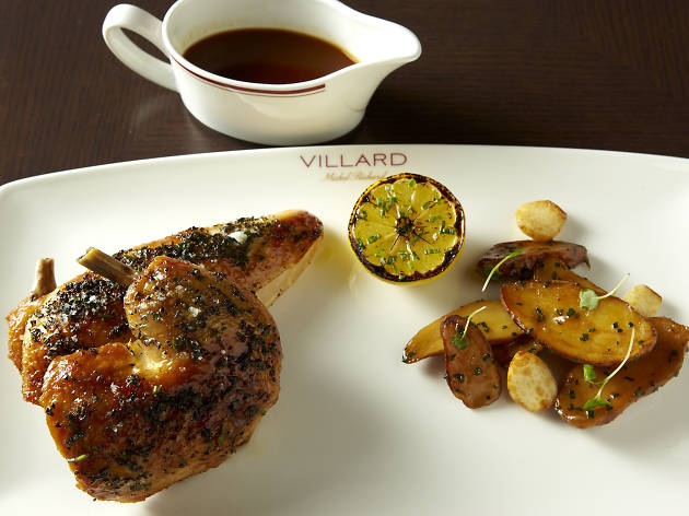 Roasted chicken at Villard Michel Richard