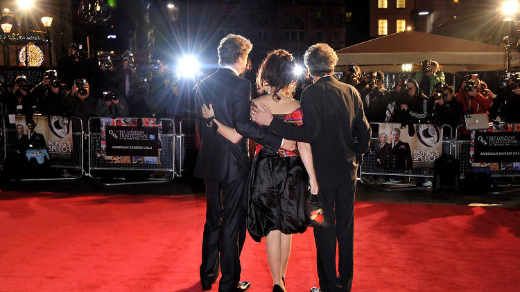 LFF, arrives for American Express Gala Screening of 'The King's Speech' during the 54th BFI London Film Festival at Odeon Leicester Square on October 21, 2010 in London, England