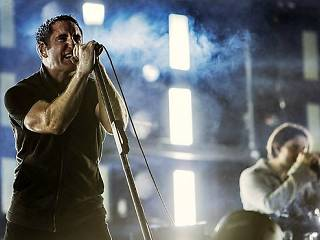 Nine Inch Nails at 2013 Leeds Festival.