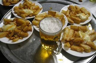 Free bravas and beer!