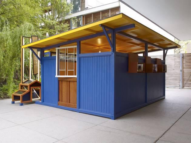 Siah Armajani (Installation view of 'An Ingenious World' at Parasol Unit, 2013)