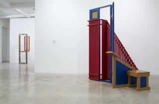 Siah Armajani (Installation view of 'An Ingenious World' at Parasol Unit, 2013)