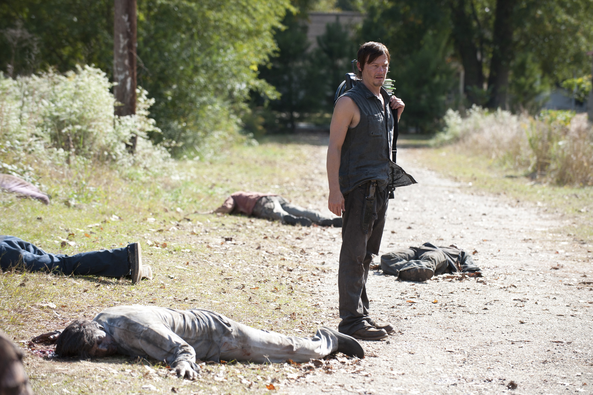 "Daryl Dixon (Norman Reedus) - The Walking Dead_Season 3, Episode 15_""This Sorrowful Life"" - Photo Credit: Gene Page/AMC"