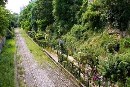 Jardins cachés dans le 18e
