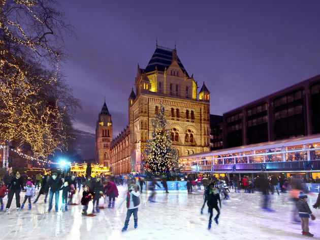 NHM Natural History Museum ice rink ice skating 2013