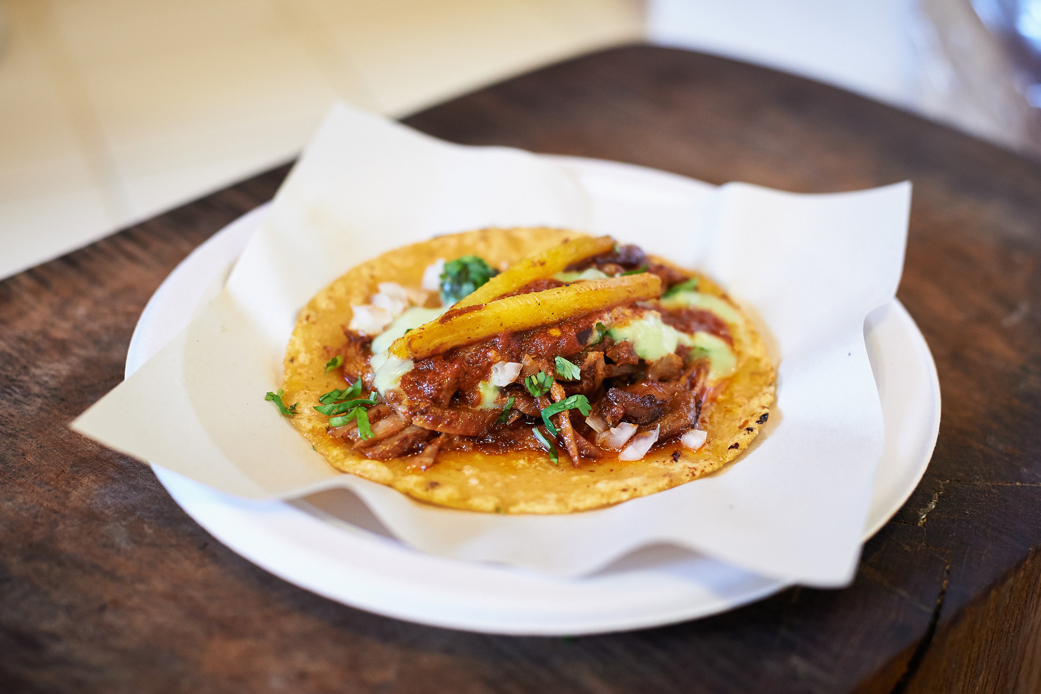 Adobada taco at Los Tacos No 1