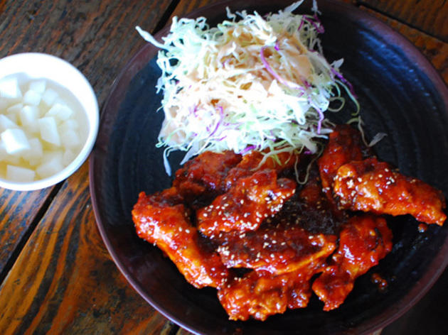 korean fried chicken, fried chicken, korean food, koreatown