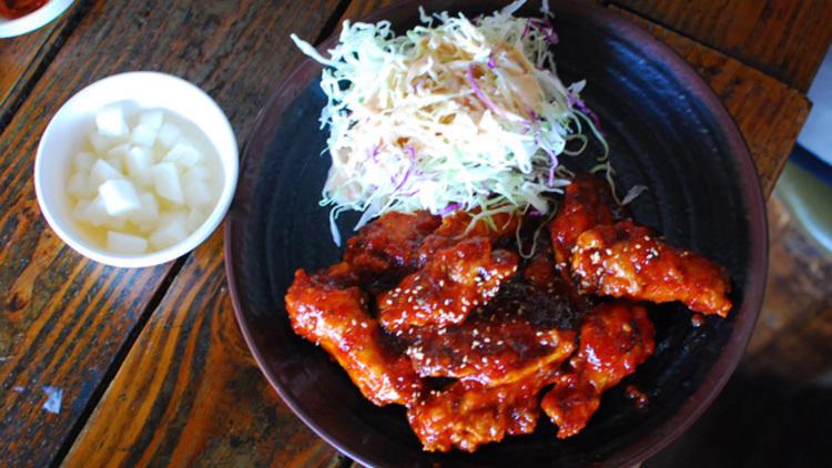 korean fried chicken, fried chicken, korean food, koreatown