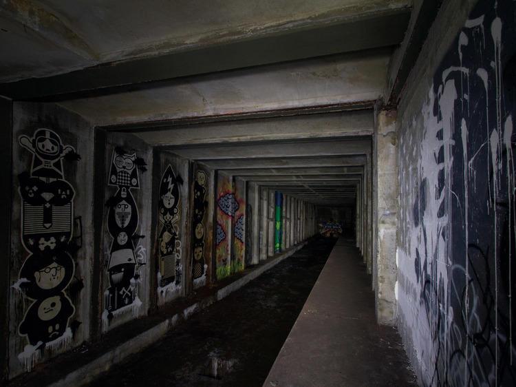 Graffiti goes way underground