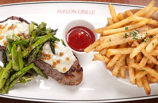 Avalon Grille's steak and fries