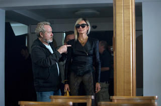 Ridley Scott, director of The Counselor, with Cameron Diaz