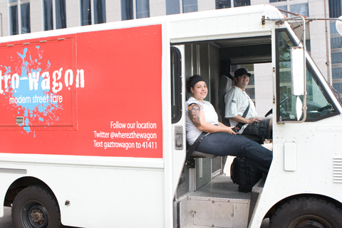 Chicago food trucks converged on Michigan and Lake on Wednesday, September 23.