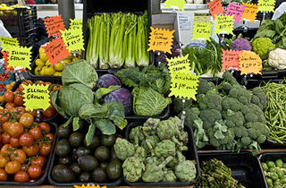 Chicago French Market vegetable selections