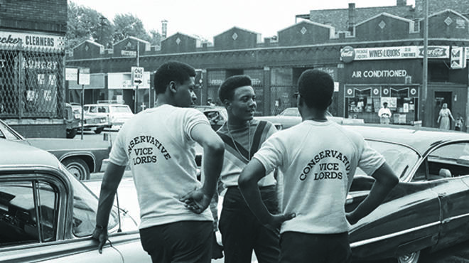 Cupid, left, and friends wore CVL sweaters with pride. Circa 1968. Photograph: CVL Inc. courtesy Bobby Gore