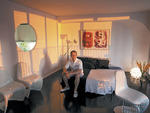 Most studio-apartment dwellers don't dream of entertaining on a grand  scale. Dinner parties can get awkward when people find themselves  lounging, cocktail in hand, on the only place in the room to sit: the  bed.But James Pike, who's lived in his ...