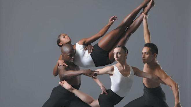 "Devin Buchanan, Ashley Rockwood, Maeghan McHale and Martin Ortiz Tapia in Autumn Eckman's ""G-Force."""