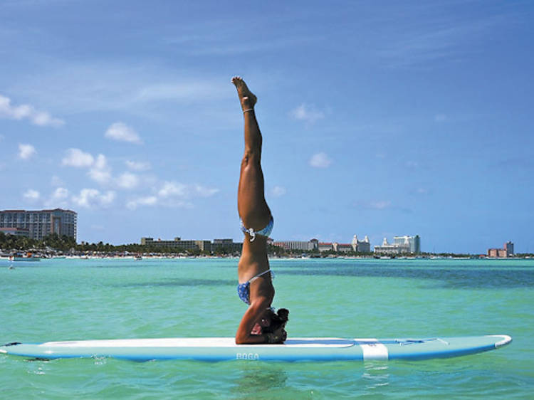 Say what's up to SUP Yoga