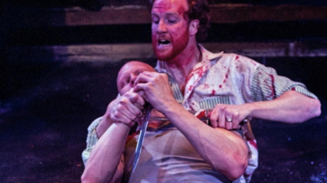 Steve O'Connell and Jude Roche in Coriolanus at the Hypocrites