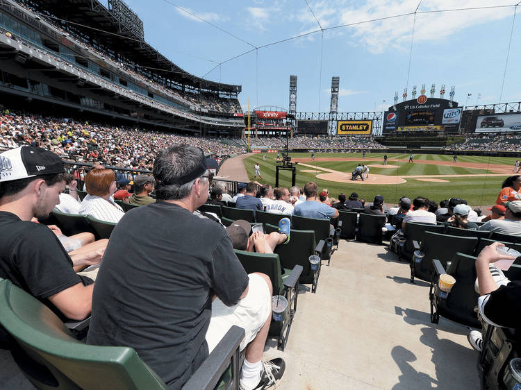 Catch a foul ball at Guaranteed Rate Field