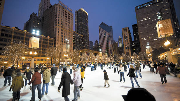 Rink Chicago Skating Rink in Chicago's