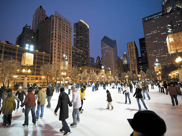 Indoor and outdoor ice skating rinks