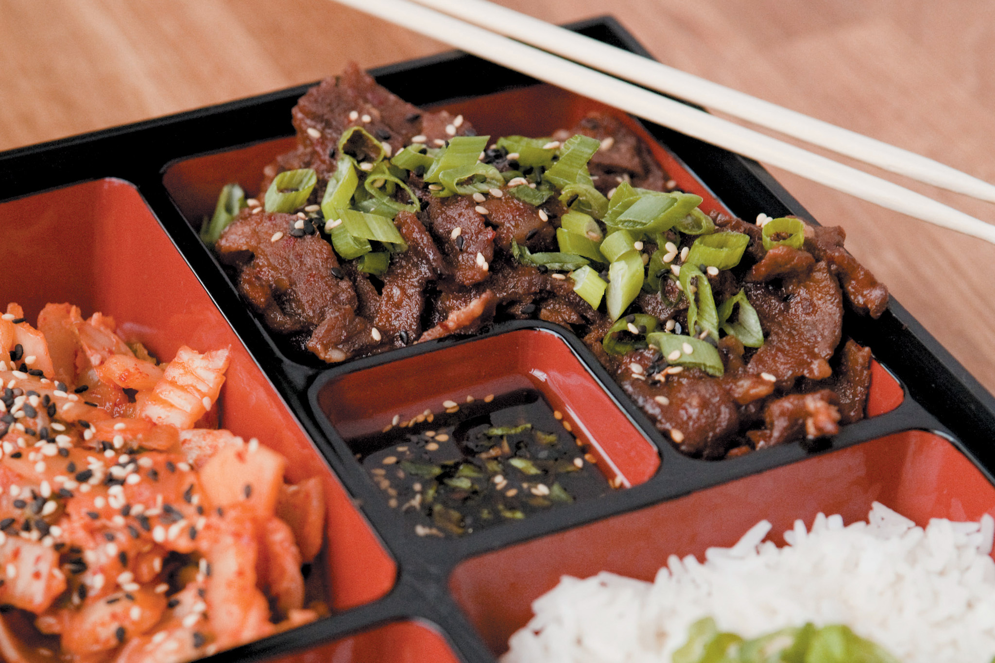 The bento box for Asian cuisine chicago