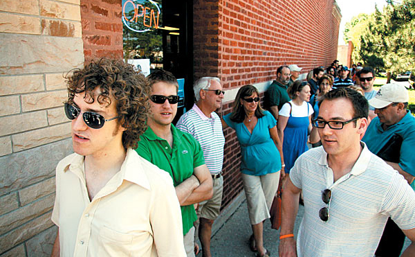 The long line at Hot Doug's