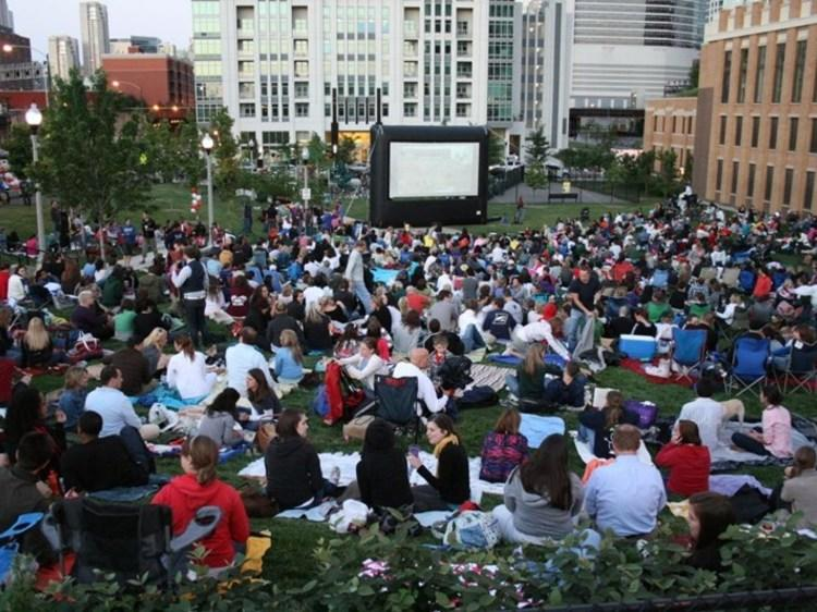 See a movie under the stars