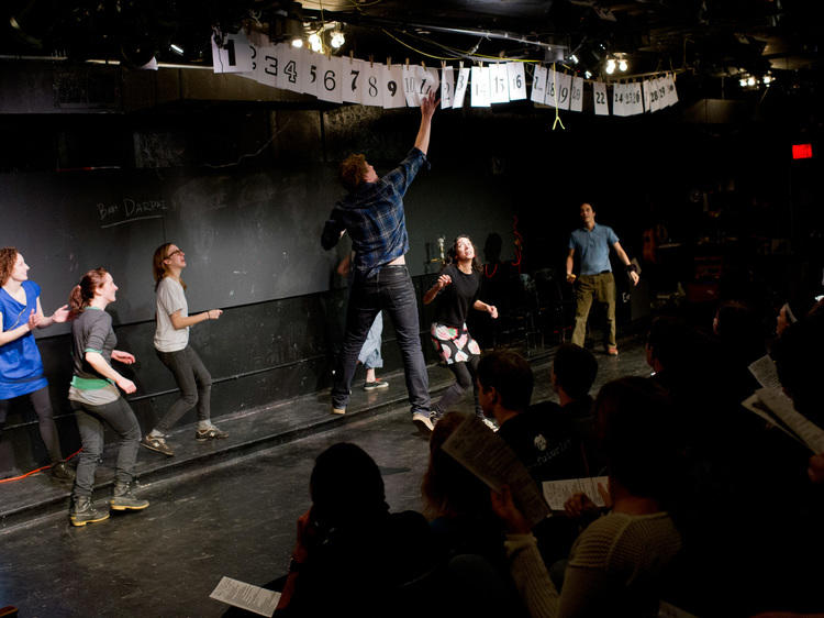 Watch 30 plays in 60 minutes at the Neo-Futurarium