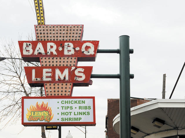 Lem's Bar B Q sign