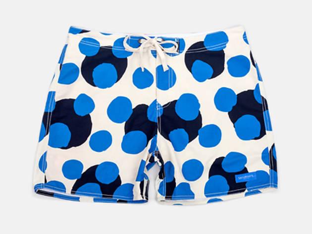 7cfa433d1d400 13/28 Saturdays x Colette Dots board shorts, $75, at saturdaysnyc.com