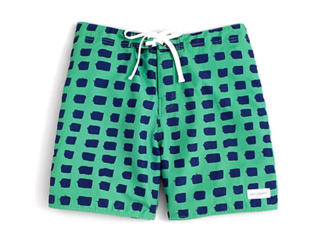 f1b5cf34f4b97 28/28 Saturdays Surf NYC Paint Print swim trunks, $75, at bloomingdales.com