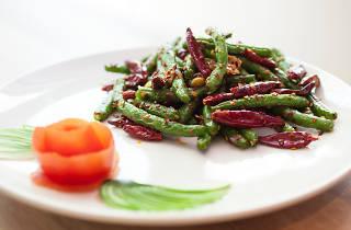 Szechuan string beans at Lao Sze Chuan