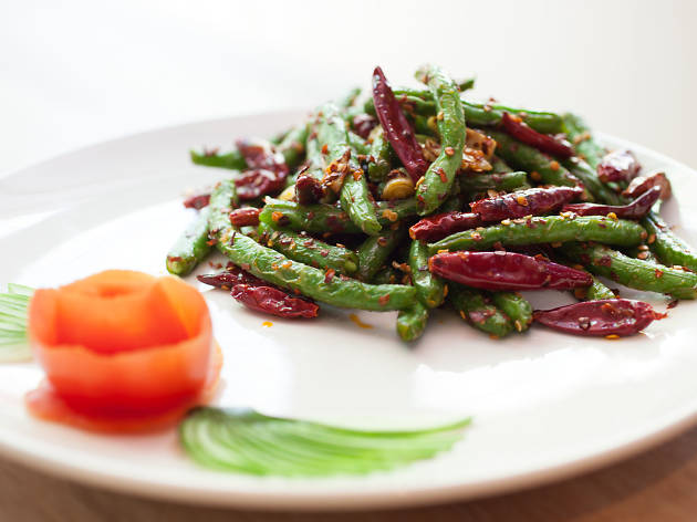 Szechuan string beans are on the menu at Tony Hu's newest restaurnat, Lao 18.