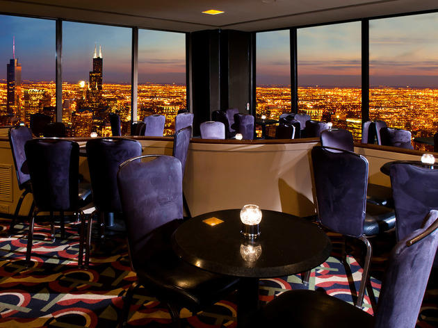 Drink in the views at the Hancock Building's Signature Lounge.