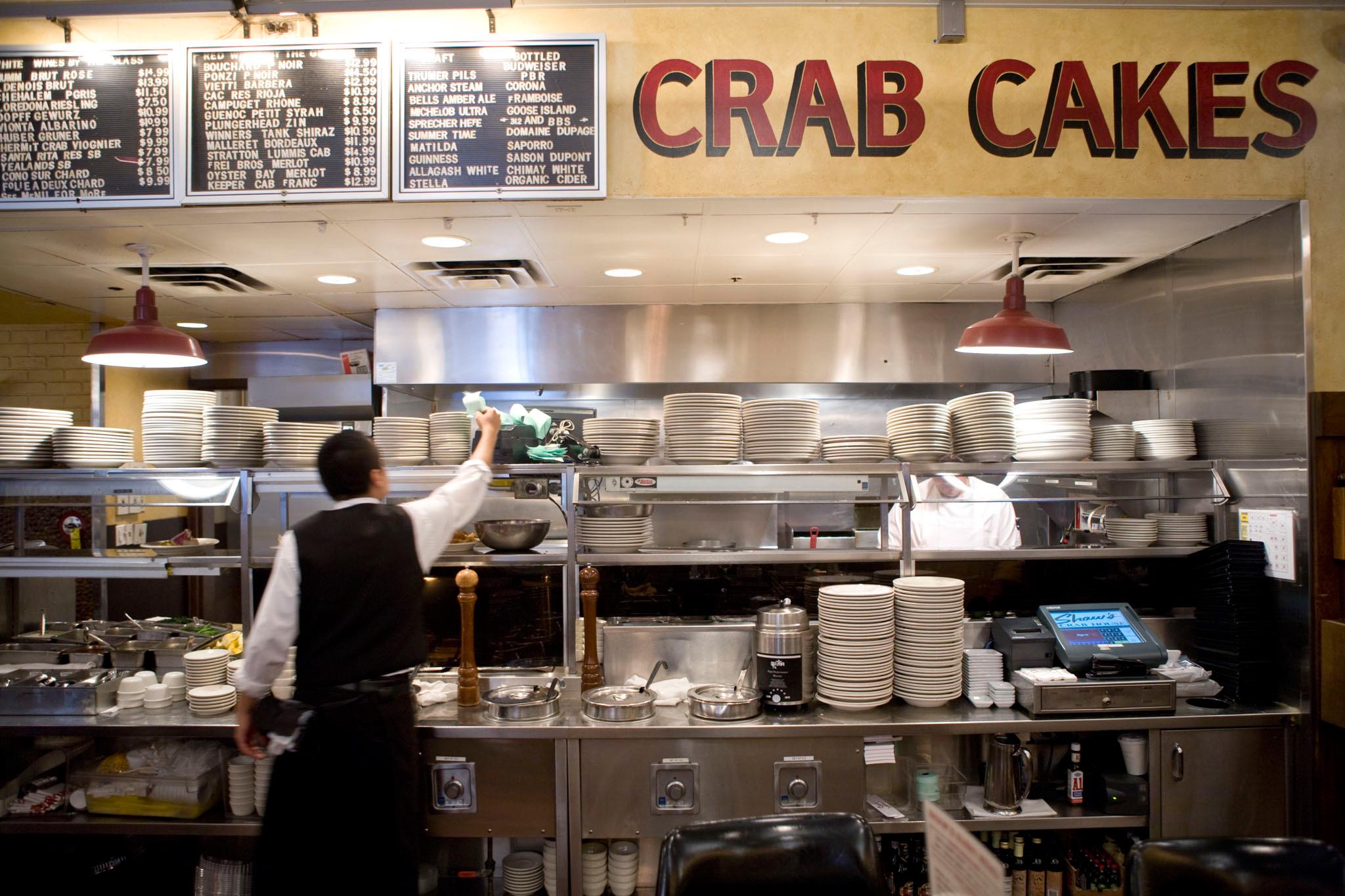 Yellowtail new-style sashimi at Shaw's Crab House