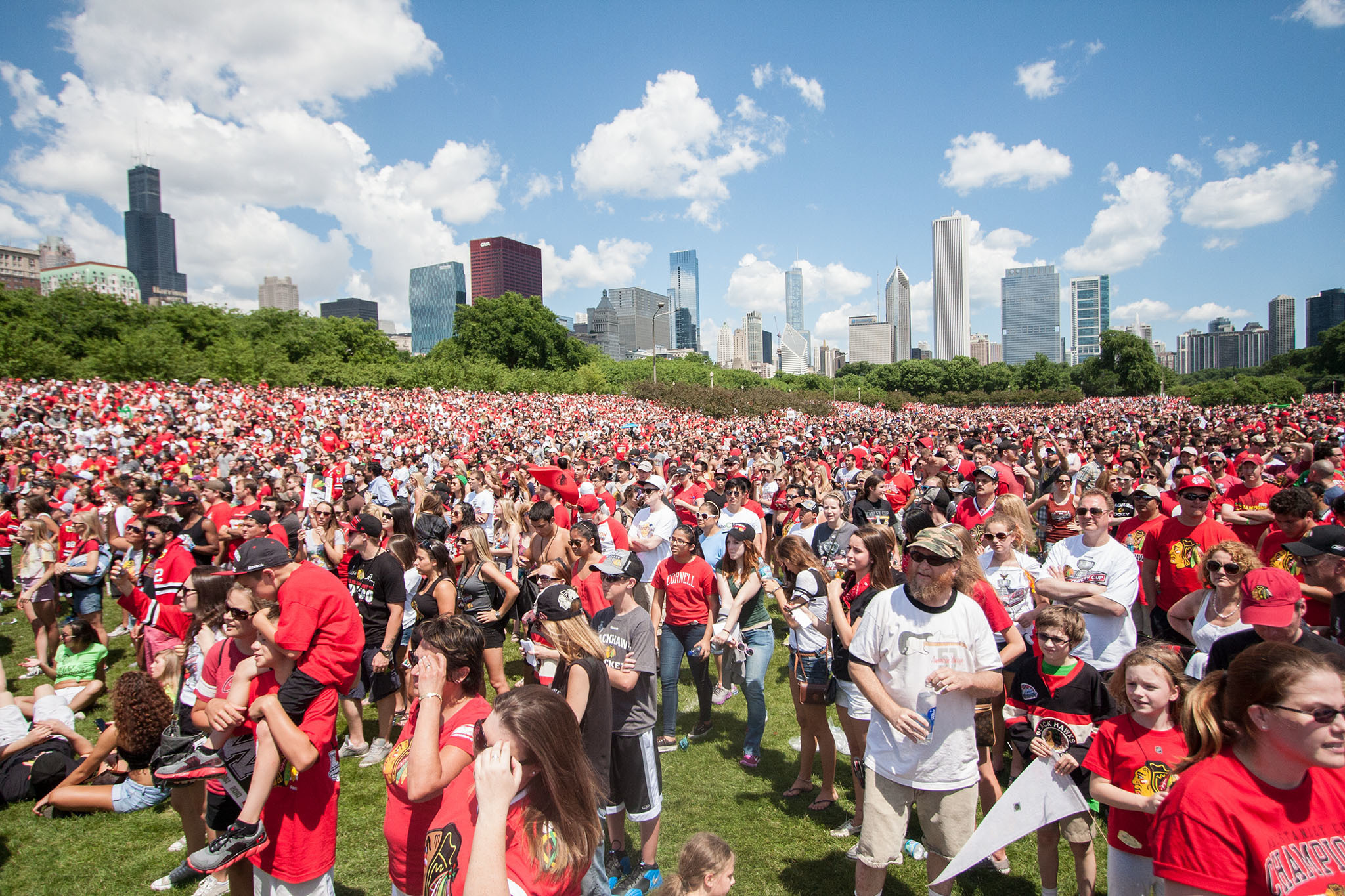 Blackhawks rally in Grant Park