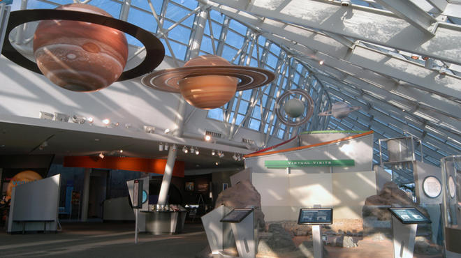 Travel through space at the Adler Planetarium.