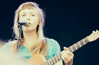 Angel Olsen plays to crowds of indie kids and music lovers at Pitchfork Music Festival 2013, July 19.