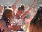 Festival-goers congregate in Grant Park at Lollapalooza Music Festival 2013 on Sunday August 4th.