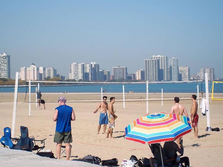Build sandcastles at Montrose Beach